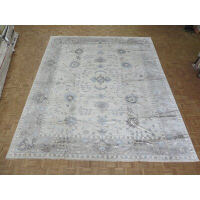 One-of-a-Kind Josephson Turkish Oushak Hand-Knotted Gray Area Rug
