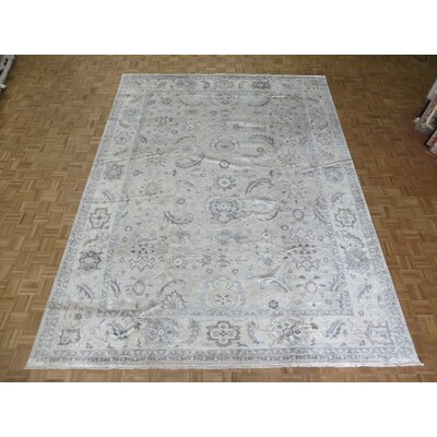 One-of-a-Kind Josephson Turkish Oushak Hand-Knotted Beige Area Rug Rug Size: Rectangle 103 x 138