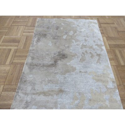 One-of-a-Kind Padang Sidempuan Modern Hand-Knotted Wool Gray Area Rug Rug Size: Rectangle 2 x 211