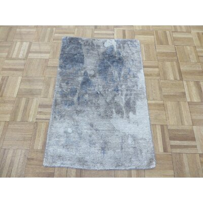 One-of-a-Kind Padang Sidempuan Modern Hand-Knotted Wool Gray Blue Area Rug Rug Size: Rectangle 2 x 3