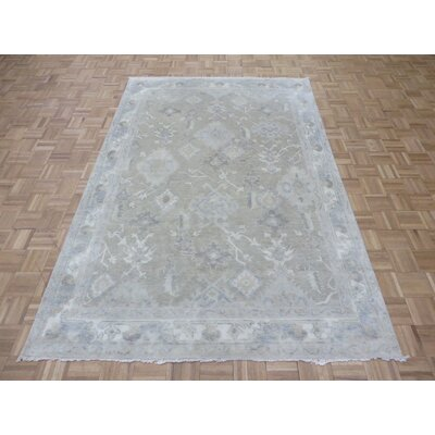 One-of-a-Kind Josephson Turkish Oushak Hand-Knotted Wool Beige Area Rug