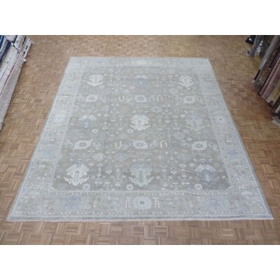 One-of-a-Kind Pellegrino Turkish Oushak Hand-Knotted Wool Brown Area Rug