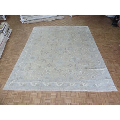 One-of-a-Kind Pellegrino Turkish Oushak Hand-Knotted Wool Beige Area Rug Rug Size: Rectangle 1110 x 1410