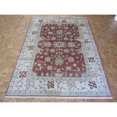 One-of-a-Kind Rhyne Oushak Hand-Knotted Wool Rust Brown Area Rug