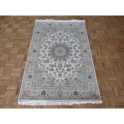 One-of-a-Kind Padro Hand-Knotted Wool Ivory Area Rug Rug Size: Rectangle 41 x 62