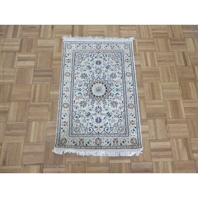 One-of-a-Kind Padro Nain Hand-Knotted Wool Ivory Area Rug