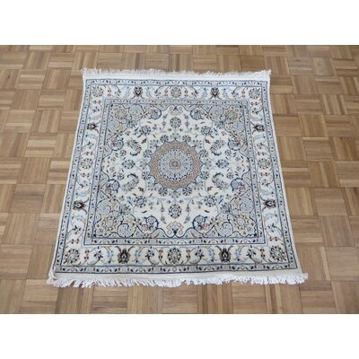 One-of-a-Kind Raley Hand-Knotted Wool Ivory Area Rug