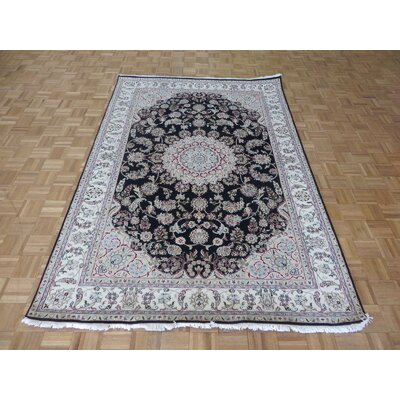 One-of-a-Kind Padro Nain Hand-Knotted Wool Navy Blue Area Rug
