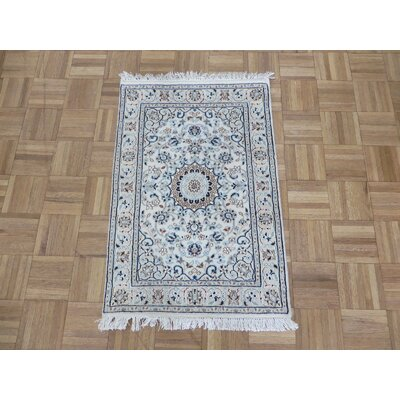 One-of-a-Kind Padro Nain Hand-Knotted Wool Ivory Area Rug Rug Size: Rectangle 21 x 32