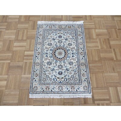One-of-a-Kind Padro Hand-Knotted Wool Ivory Gray Area Rug