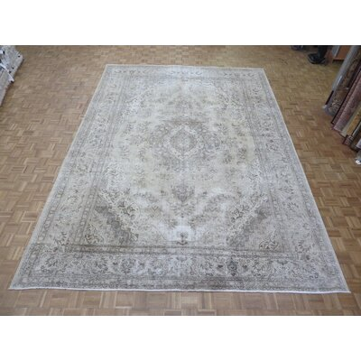 One-of-a-Kind Padro Hand-Knotted Light Gold Area Rug