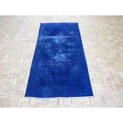 One-of-a-Kind Padro Hand-Knotted Blue/Purple Area Rug