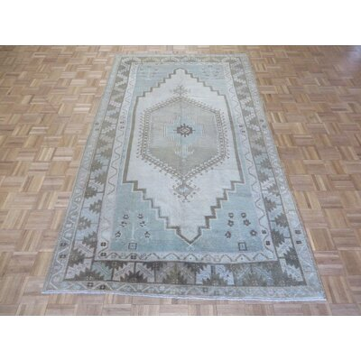 One-of-a-Kind Pagel Turkish Hand-Knotted Wool Beige Area Rug