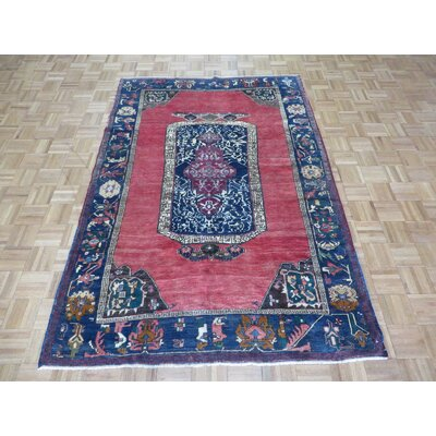 One-of-a-Kind Padillo Turkish Oushak Hand-Knotted Wool Red Area Rug