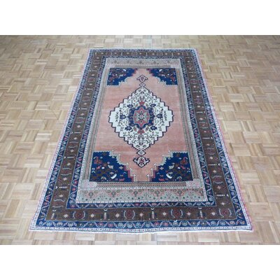One-of-a-Kind Pagel Turkish Oushak Hand-Knotted Wool Pink Area Rug