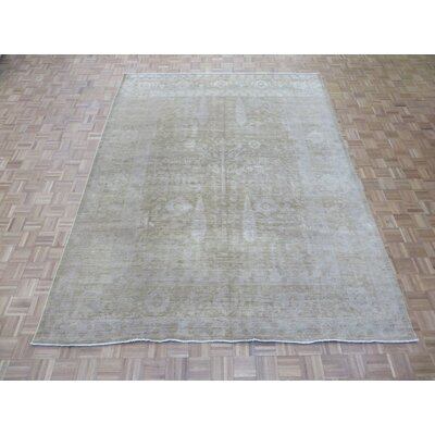 One-of-a-Kind Josephson Peshawar Oushak Hand-Knotted Light Brown Area Rug