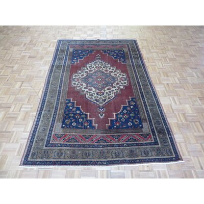 One-of-a-Kind Pagel Turkish Oushak Hand-Knotted Wool Rust Area Rug