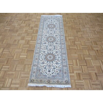 One-of-a-Kind Padro Nain Hand-Knotted Wool Ivory Area Rug Rug Size: Runner 28 x 82