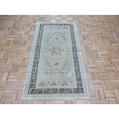 One-of-a-Kind Pagel Turkish Oushak Hand-Knotted Wool Beige Area Rug