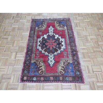 One-of-a-Kind Pagel Turkish Oushak Hand-Knotted Wool Red Area Rug