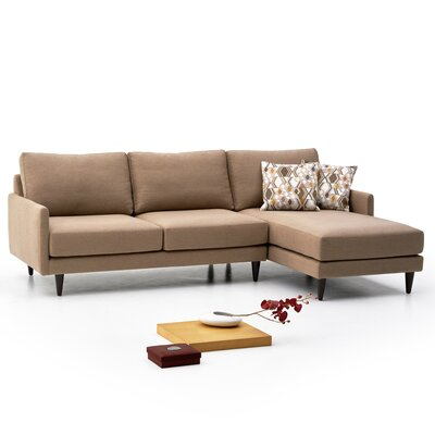 Costin Sectional Color: Light Brown, Orientation: Right Hand Facing