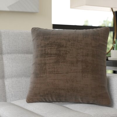 Aylor Square Throw Pillow Color: Dark Brown