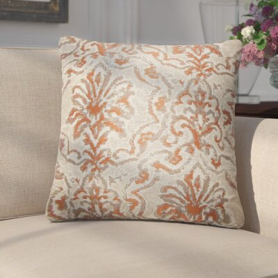Cesare Damask Throw Pillow Color: Camel