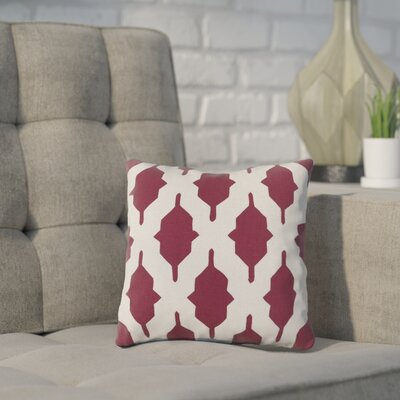 Meadors Throw Pillow Size: 22 H x 22 W x 4 D, Color: Eggplant, Filler: Down