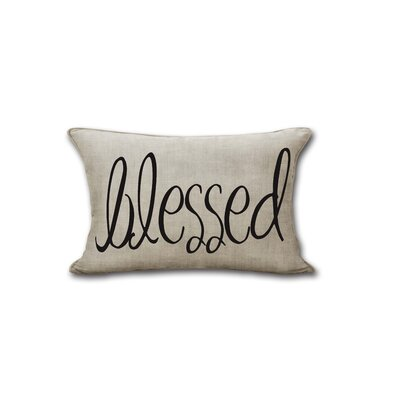 Ebling Blessed Canvas Decorative Throw Pillow