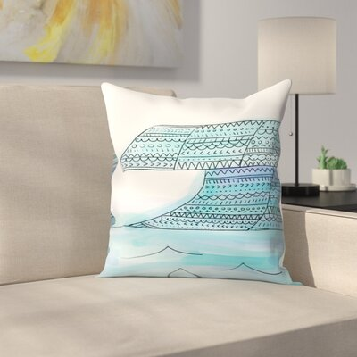 Jetty Printables Tribal Wave Boho Art Throw Pillow Size: 16 x 16