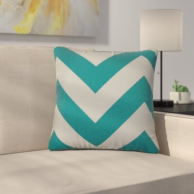 Sullivan Zigzag Cotton Throw Pillow Color: Turquoise