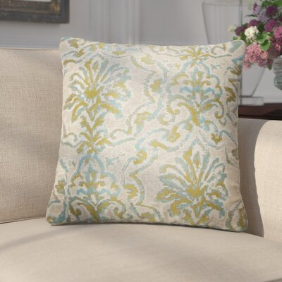 Cesare Damask Throw Pillow Color: Caribbean