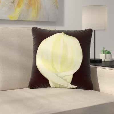 Cyndi Steen Portrait of a Calla Lily Floral Outdoor Throw Pillow Size: 18 H x 18 W x 5 D