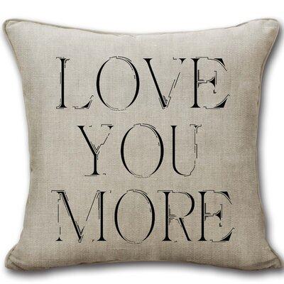Massaro Love You More Cotton Decorative Throw Pillow