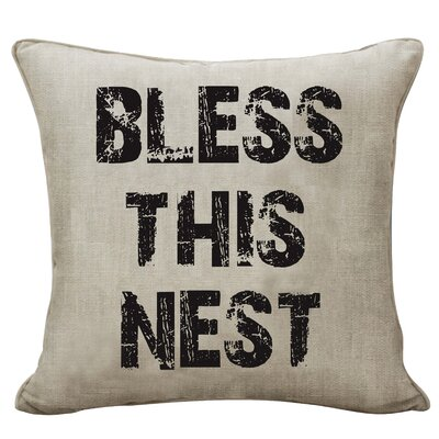 Massenburg Bless This Nest Canvas Decorative Throw Pillow