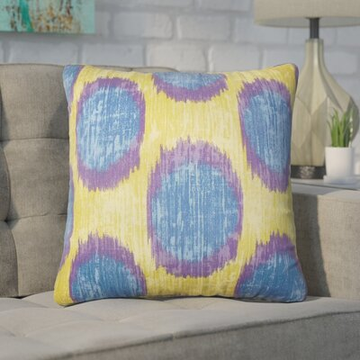 Nyberg Ikat Cotton Throw Pillow Color: Purple/Sage