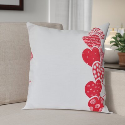 Valentines Day Throw Pillow Size: 26 H x 26 W, Color: Pink