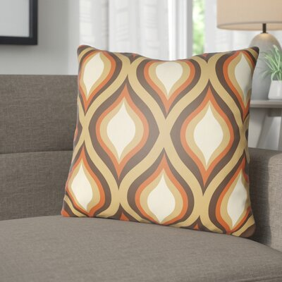 Wakefield Contemporary Throw Pillow Size: 18 H x 18 W x 4 D, Color: Brown