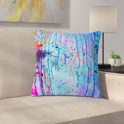 Ebi Emporium Happy Tears Outdoor Throw Pillow Size: 16 H x 16 W x 5 D, Color: Blue/Purple