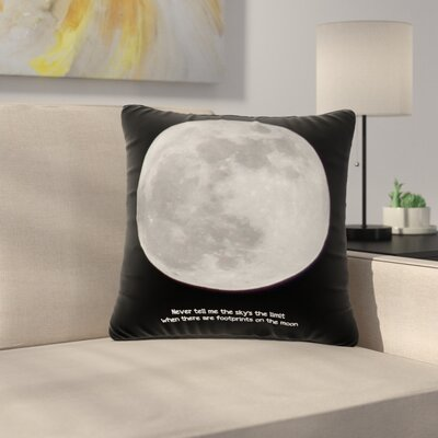 Sylvia Coomes the Moon Outdoor Throw Pillow Size: 18 H x 18 W x 5 D
