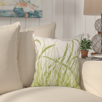 Boubacar Sea Grass Outdoor Throw Pillow Size: 18 H x 18 W, Color: Green