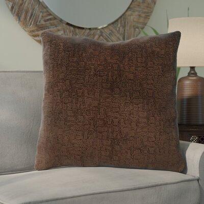 Tarsha Throw Pillow Color: Brown