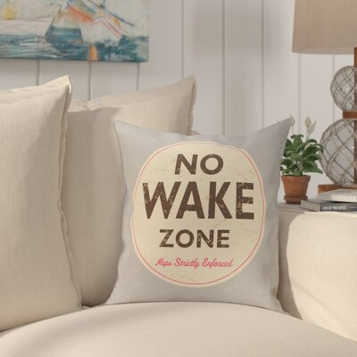 Golden Beach Nap Zone Word Throw Pillow Size: 18 H x 18 W, Color: Gray