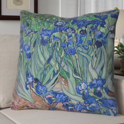 Morley Irises Square Euro Pillow Color: Teal/Blue
