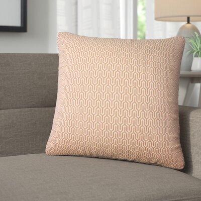 Ivanna Geometric Cotton Throw Pillow Color: Melon