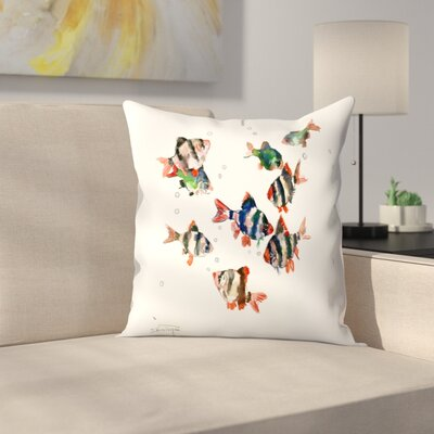 Suren Nersisyan Tiger Barb Throw Pillow Size: 16 x 16