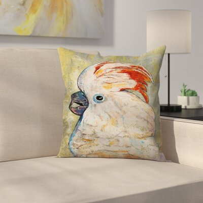 Michael Creese Moluccan Cockatoo Throw Pillow Size: 18 x 18