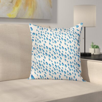 Raindrops Aquatic Fall Square Pillow Cover Size: 18 x 18