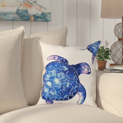 Granata Turtle Tales Animal Print Throw Pillow Size: 16 H x 16 W, Color: White