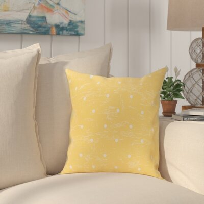 Golden Beach Dorothy Dot Geometric Outdoor Throw Pillow Size: 20 H x 20 W, Color: Yellow